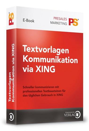 Cover zu Textvorlagen Kommunikation via XING