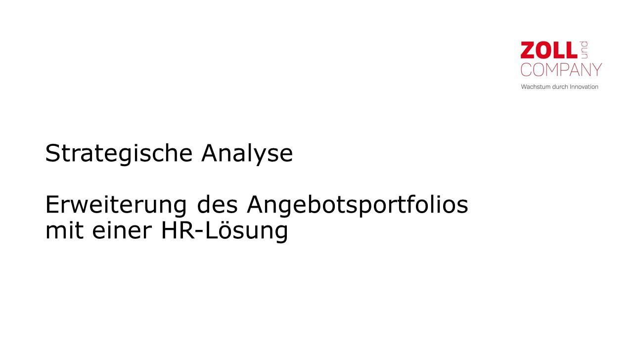 Cover zu Strategische Analyse eines Wachstumsprojektes für HR-Lösungen