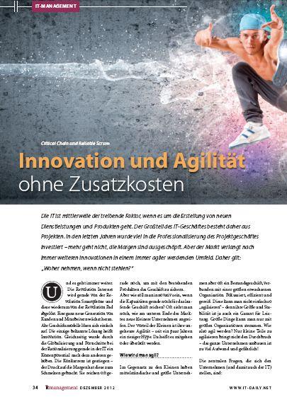 Cover zu Innovation und Agilität ohne Zusatzkosten
