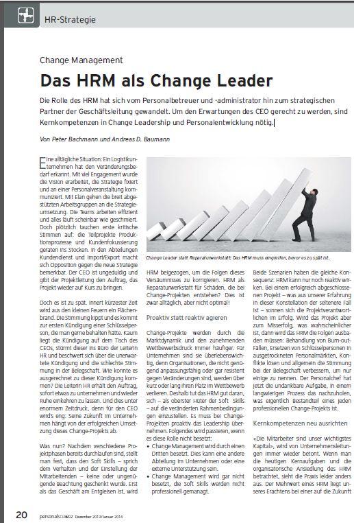 Cover zu Das HRM als Change Leader