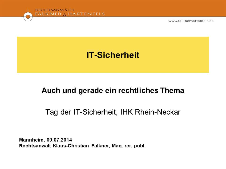 Cover zu IT-Sicherheit