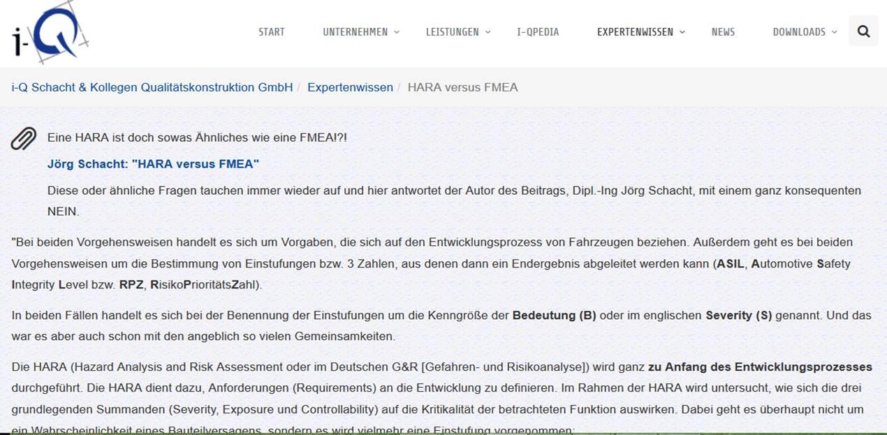 Cover zu HARA versus FMEA