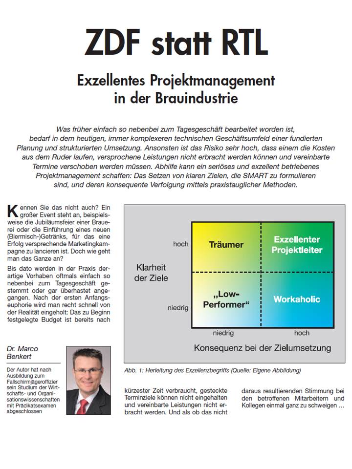Cover zu Projektmanagement-Artikel