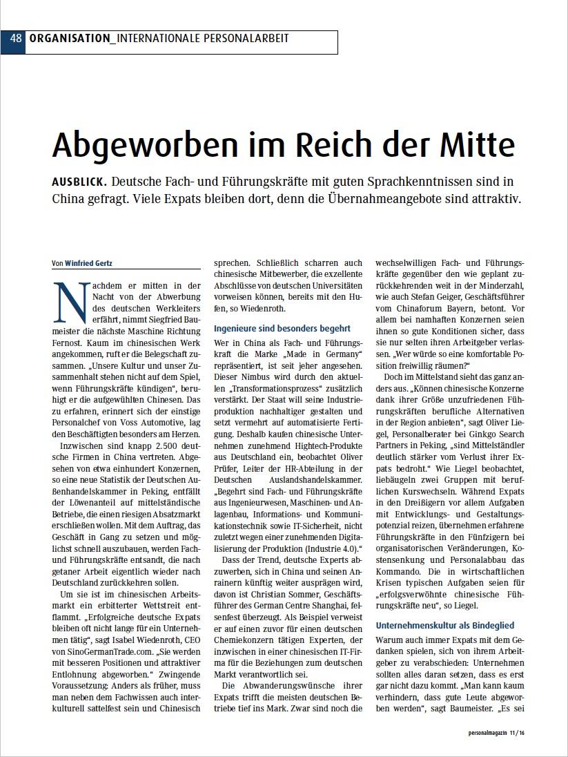 Cover zu Abgeworben im Reich der Mitte