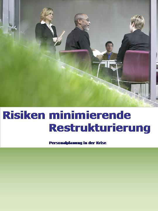 Cover zu Risiken minimierende Restrukturierung
