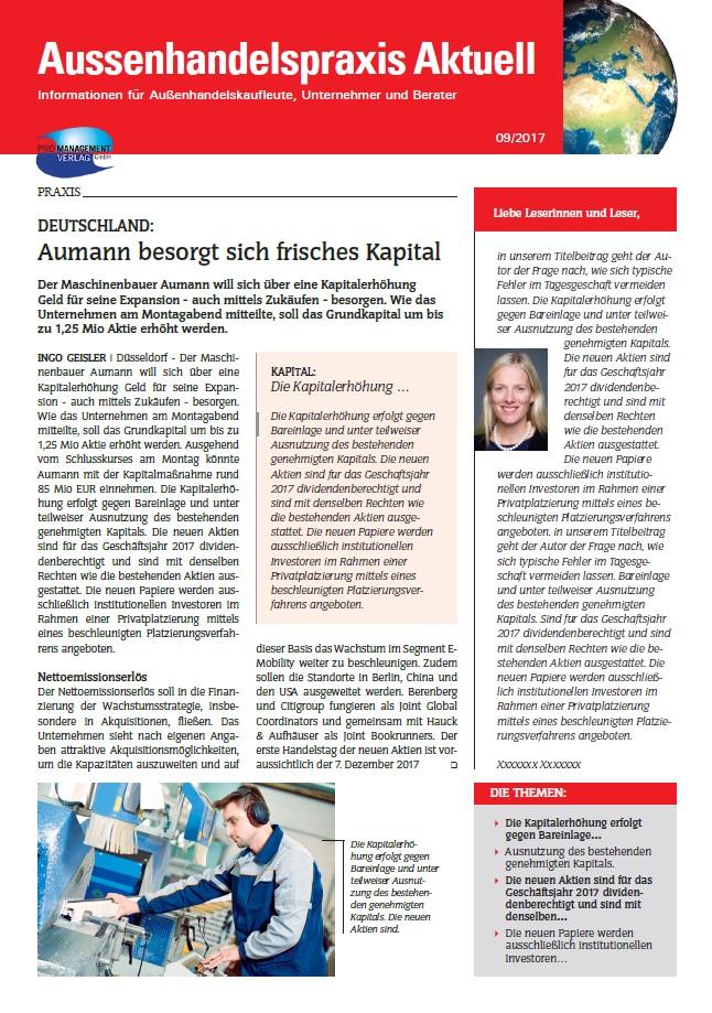 Cover zu AHP Aussenhandelspraxis AKTUELL