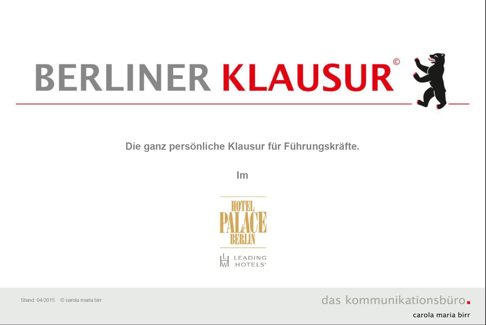 Cover zu Berliner Klausur©