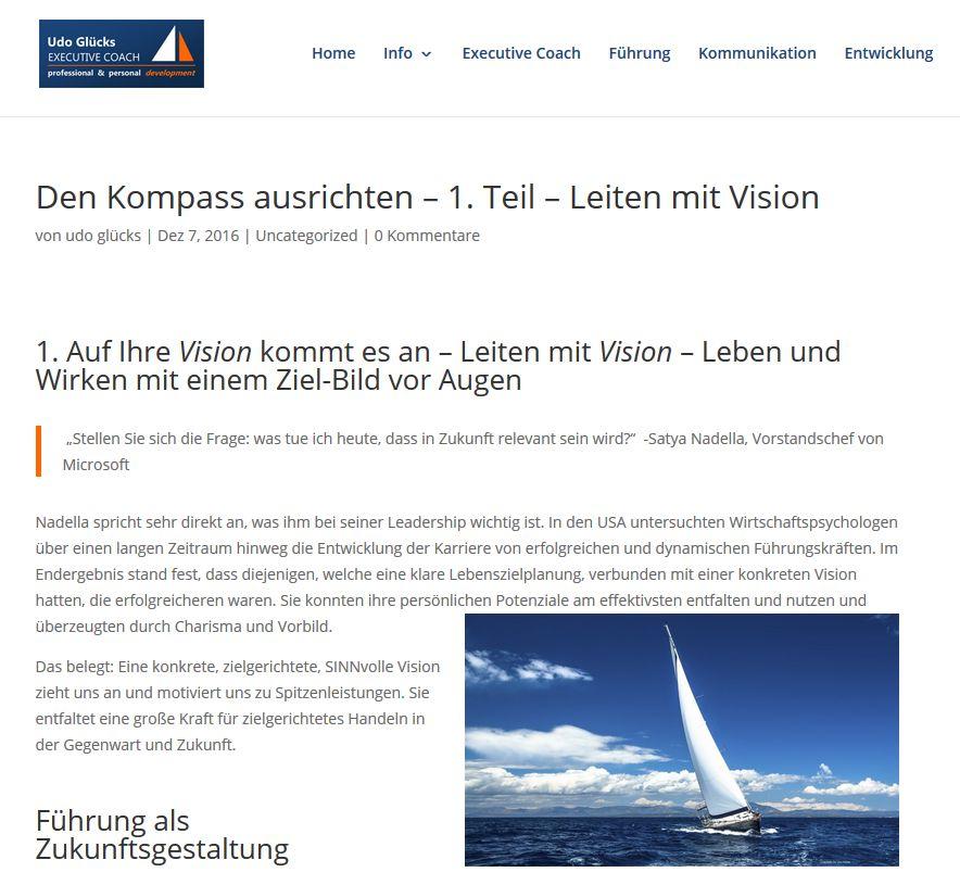 Cover zu Den Kompass ausrichten und wesentliche Ziele klären - 1. Teil