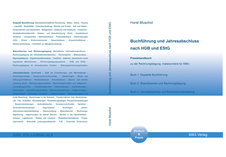 Cover zu Buchführung und Jahresabschluss nach HGB und EStG