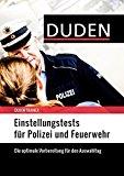 Cover zu Duden Trainer – Einstellungstests für Polizei und Feuerwehr