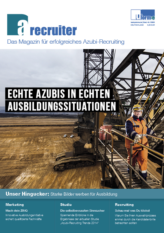 Cover zu A-Recruiter Magazin 2014