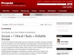 Critical Chain und Scrum = Reliable Scrum (Projektmagazin)