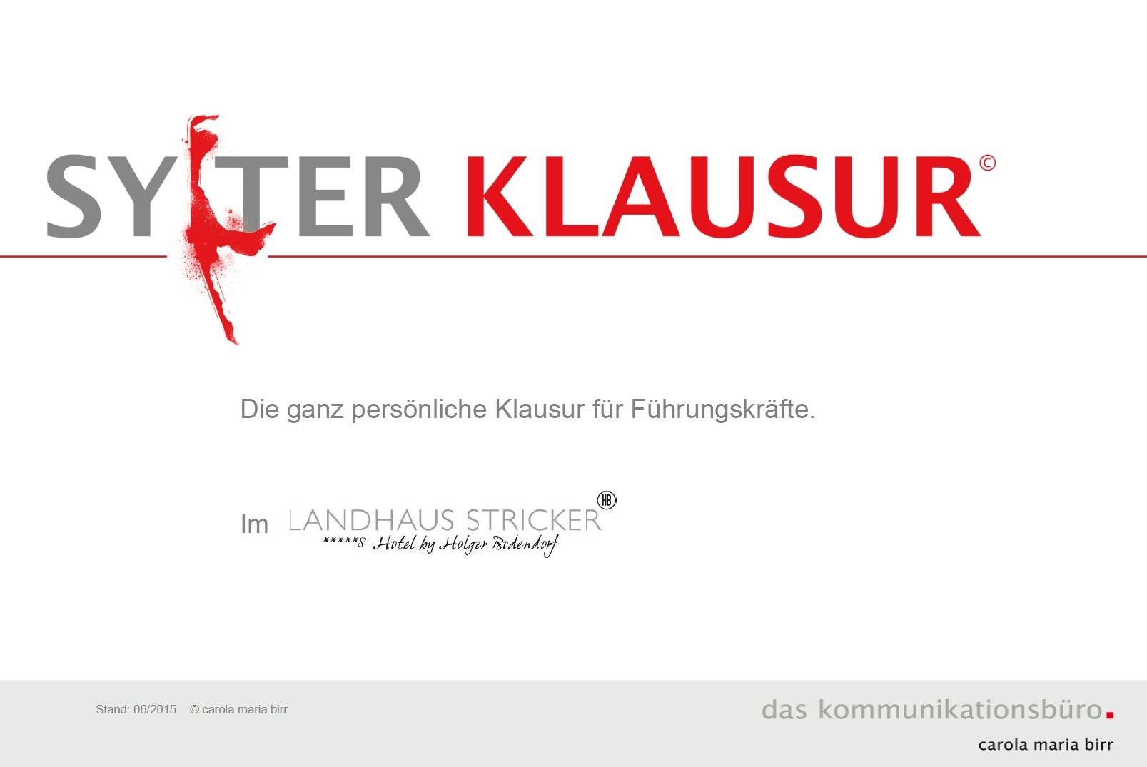 Cover zu Sylter Klausur©