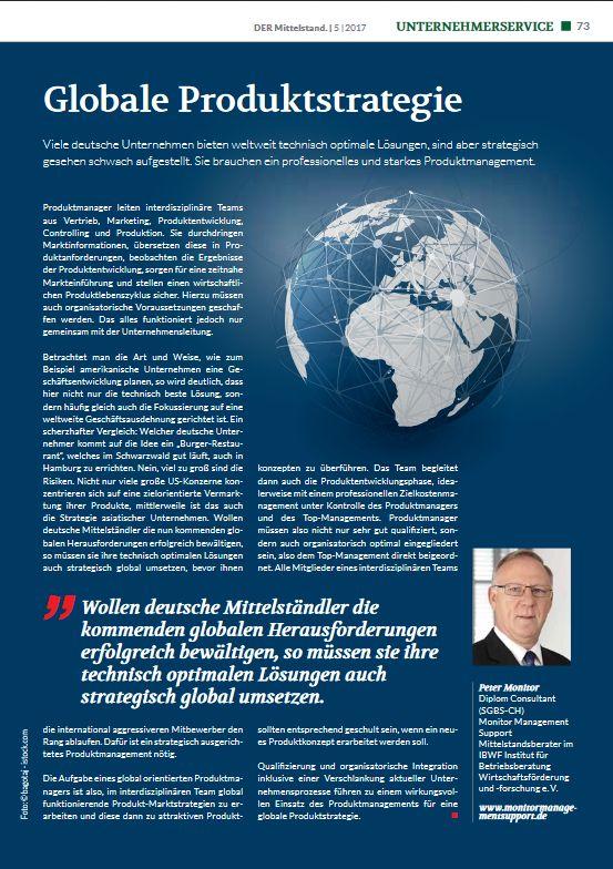 Cover zu Globale Produktstrategie