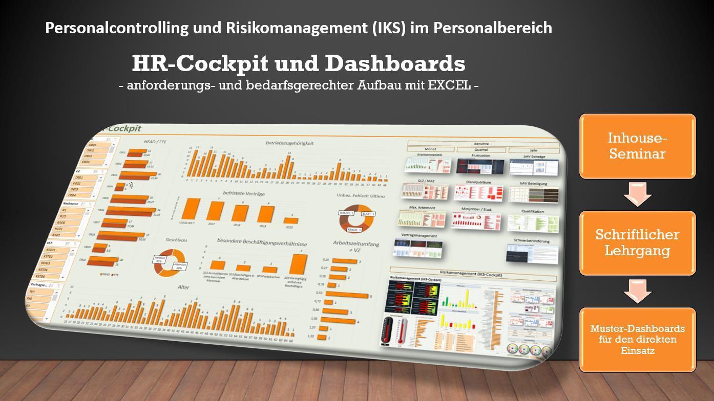 Cover zu Schriftlicher Lehrgang: HR-Cockpit und Dashboards