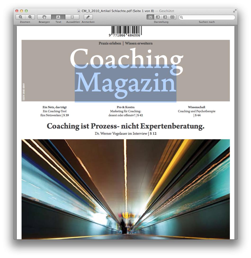 Cover zu Wenn es zu komplex wird im Coaching –  über den Gebrauch von Werkzeugen zur  Unterstützung des systemischen Denkens