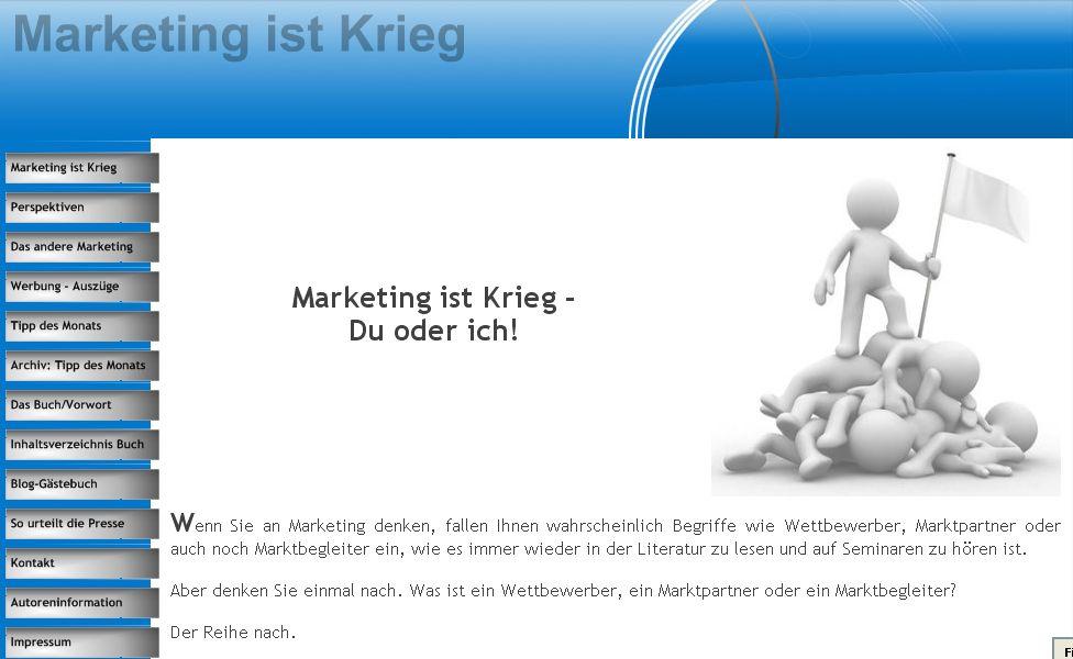 Cover zu Marketing ist Krieg