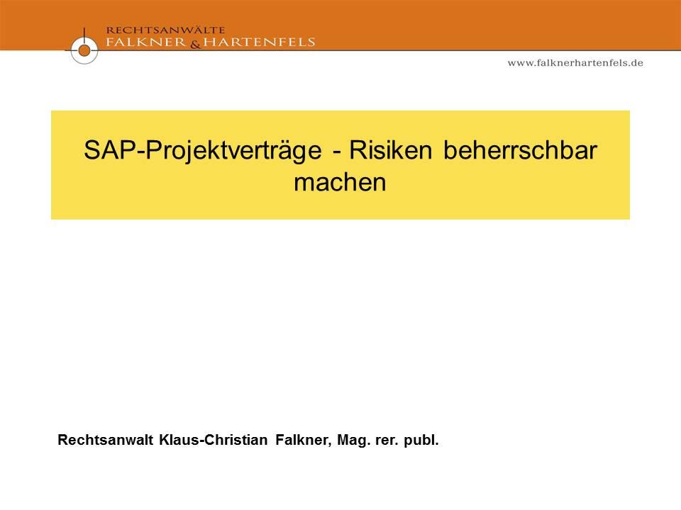 Cover zu SAP-Projektverträge