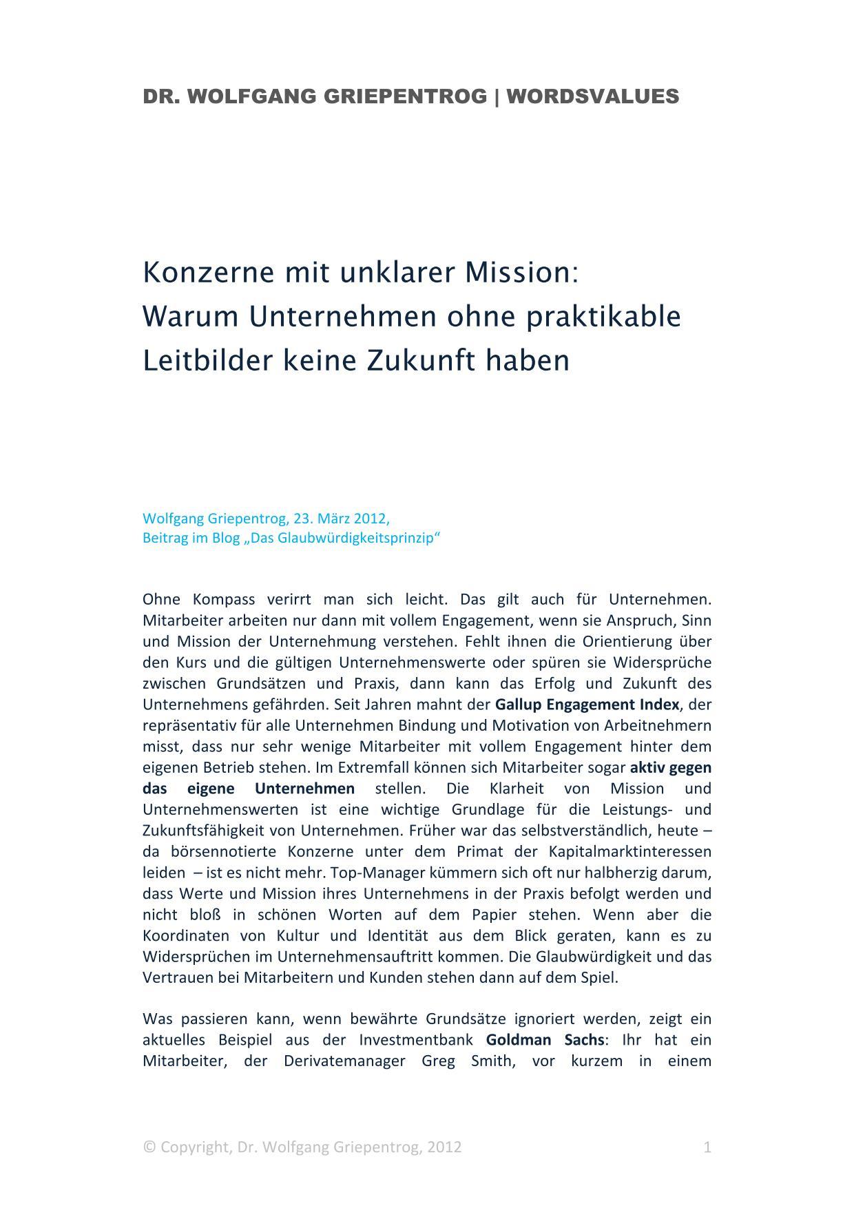 Cover zu Konzerne mit unklarer Mission
