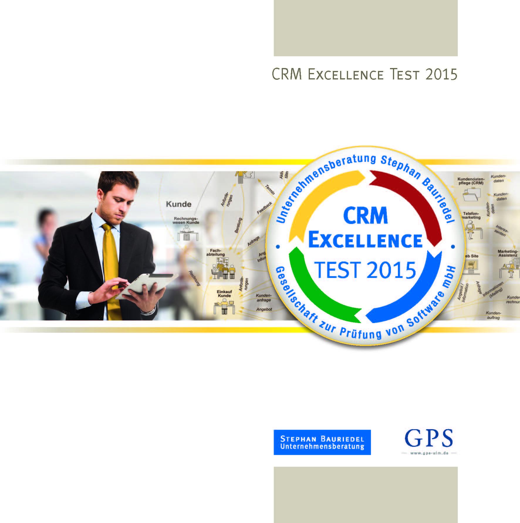 Cover zu CRM Excellence Test 2015 mit neuem Szenario