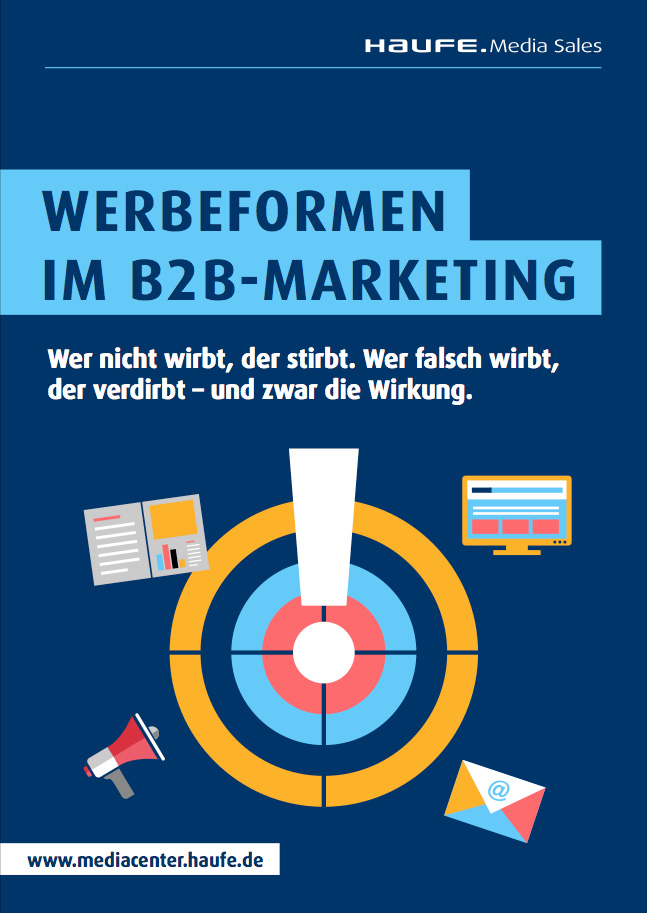 "Cover zu Whitepaper ""Werbeformen im B2B-Marketing"""