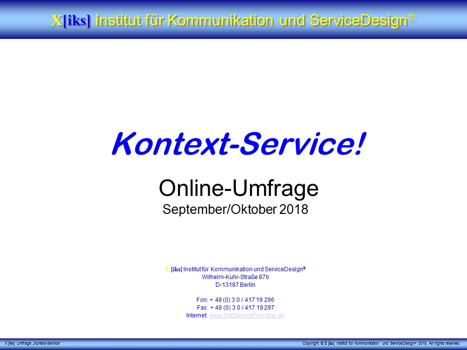 Cover zu Kontext-Service