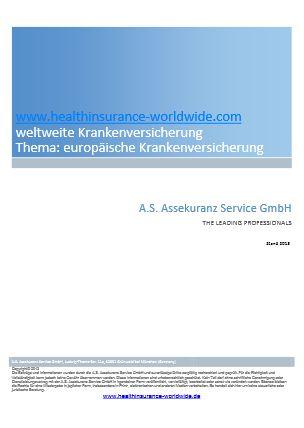 Cover zu Europäische private Krankenversicherung durch EWR-Dienstleister