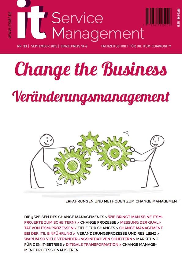 Cover zu Change Management bei der ITIL Einführung