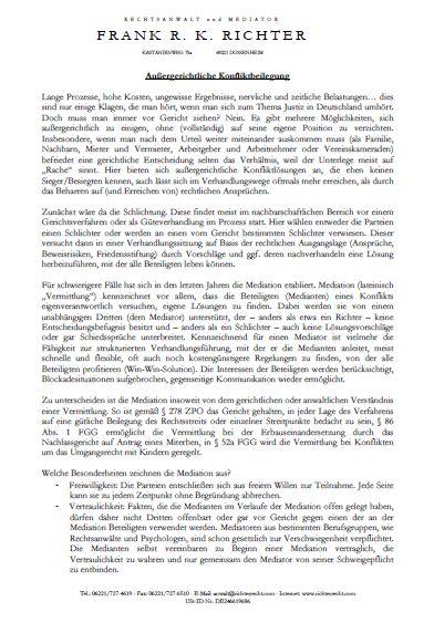 Cover zu Außergerichtliche Konfliktbeilegung - Welche Möglichkeiten gibt es?
