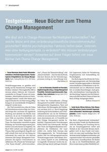 """Cover zu Rezension """"Change Management Praxisfälle. Veränderungsschwerpunkte Organisation, Team, Individuum"""" in Zeitschrift managerSeminare"""