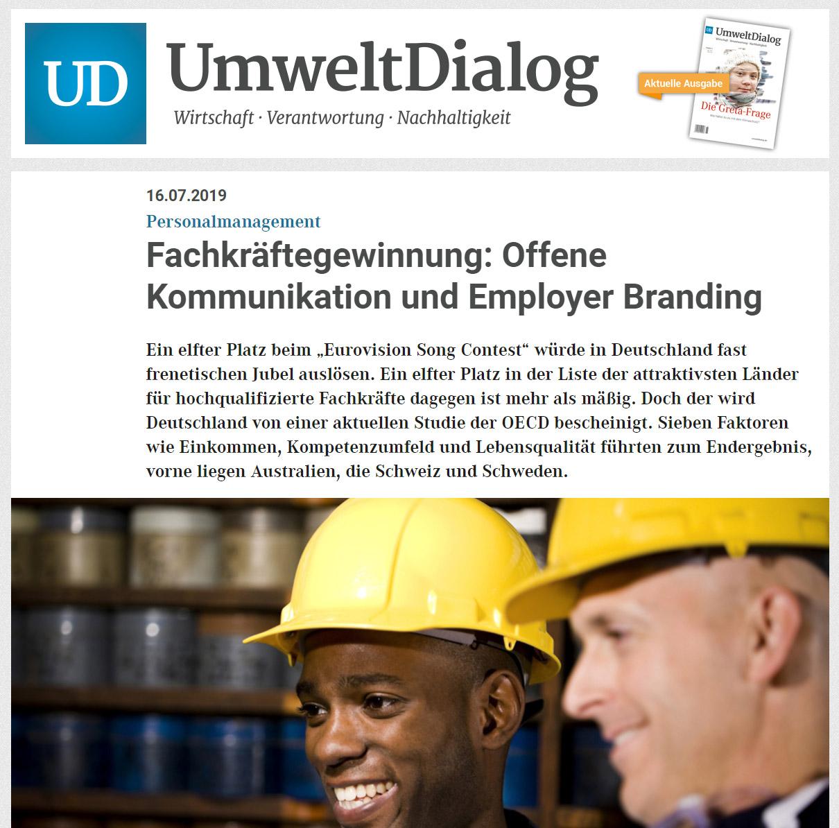 Cover zu Fachkräftegewinnung: Offene Kommunikation und Employer Branding