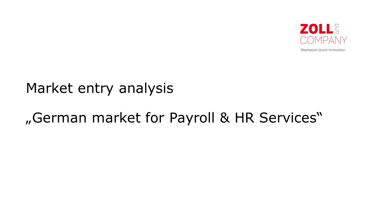 Cover zu Market entry analysis 2015 - Germany