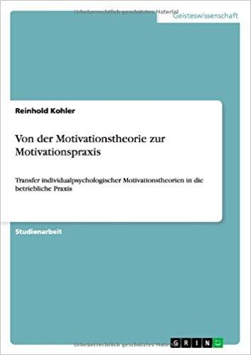 Cover zu Von der Motivationstheorie zur Motivationspraxis