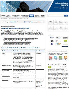 Cover zu Kostenlose Social-Media-Monitoring-Tools