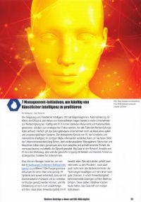Cover zu 7 Management-Initiativen, um künftig von Künstlicher Intelligenz zu profitieren