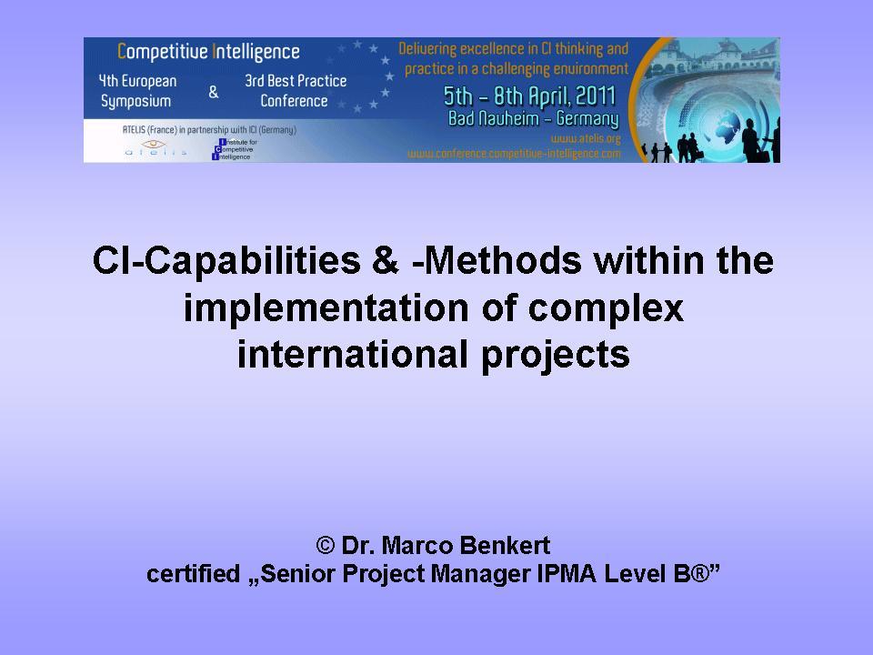 Cover zu ICI-Presentation
