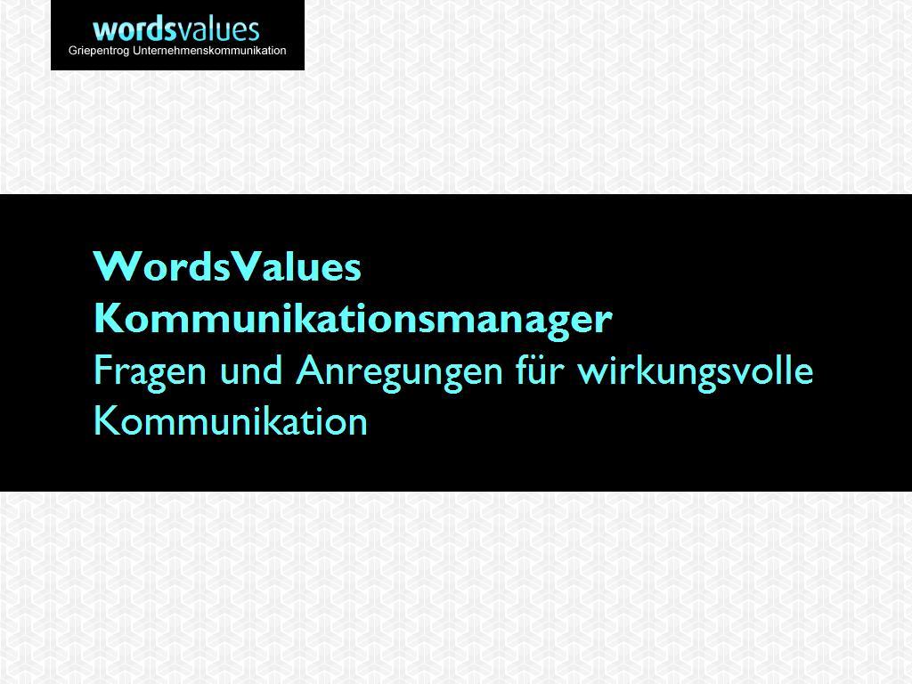 Cover zu WordsValues Kommunikationsmanager