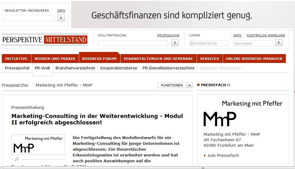 Cover zu Marketing-Consulting in der Weiterentwicklung - Modul II erfolgreich abgeschlossen!