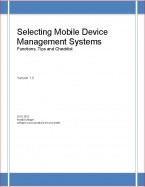 Selecting Mobile Device Management  Systems