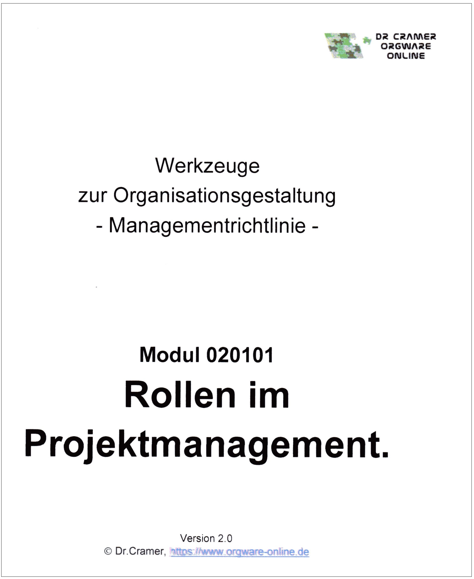 Cover zu Rollen im Projektmanagement