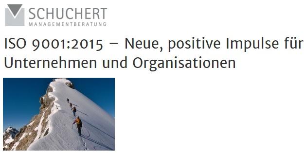 Cover zu Neuerungen der ISO 9001:2015 - Teil 1