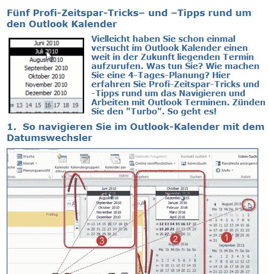 Cover zu Fünf Profi-Zeitspar-Tricks und -Tipps rund um den Outlook Kalender