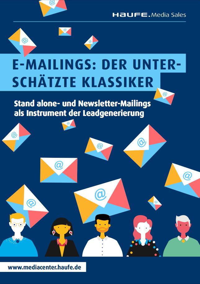"""Cover zu Whitepaper """"E-Mailing – der unterschätzte Klassiker"""""""