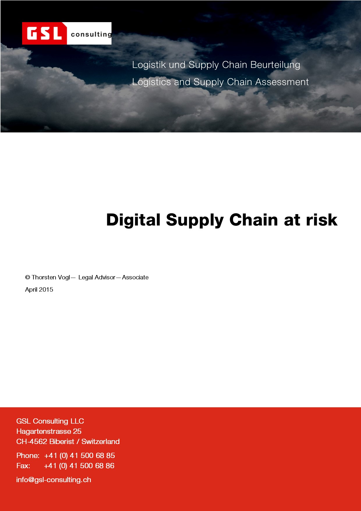 Cover zu Digital Supply Chain at risk