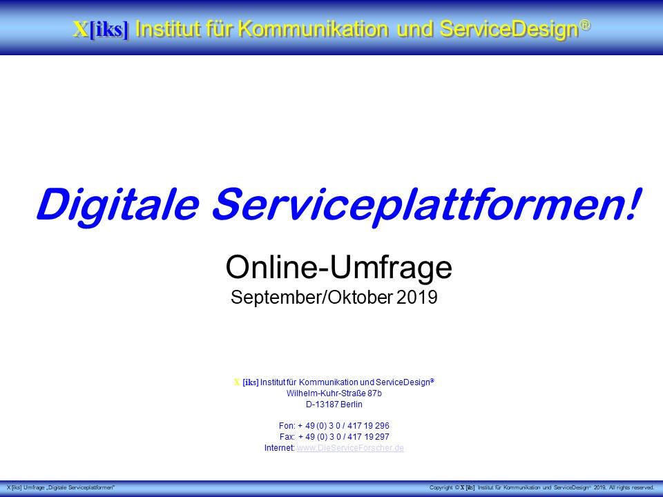 Cover zu Digitale Serviceplattformen