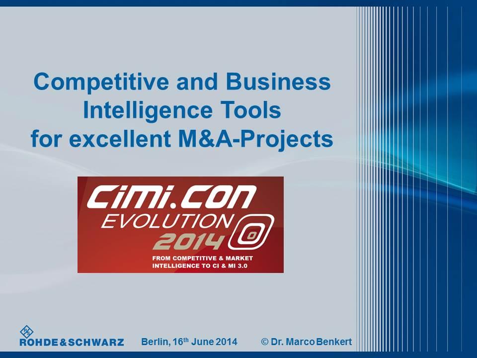 Cover zu M&A-Presentation