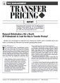 Rampant Globalisation--Yet a Dearth OF Professionals to Lead the Way in Transfer Pricing? ...