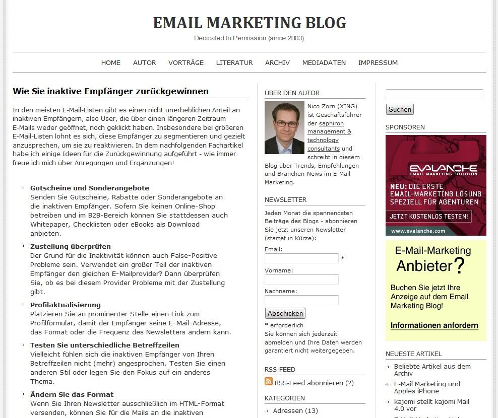Cover zu E-Mail-Marketing: Wie Sie inaktive Empfänger zurückgewinnen