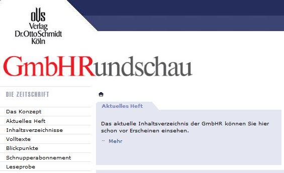 Cover zu Haftung des Geschäftsführers gem. § 64 S. 3 GmbHG, Kommentar zu BGH vom 09.10.2012, II ZR 298/11