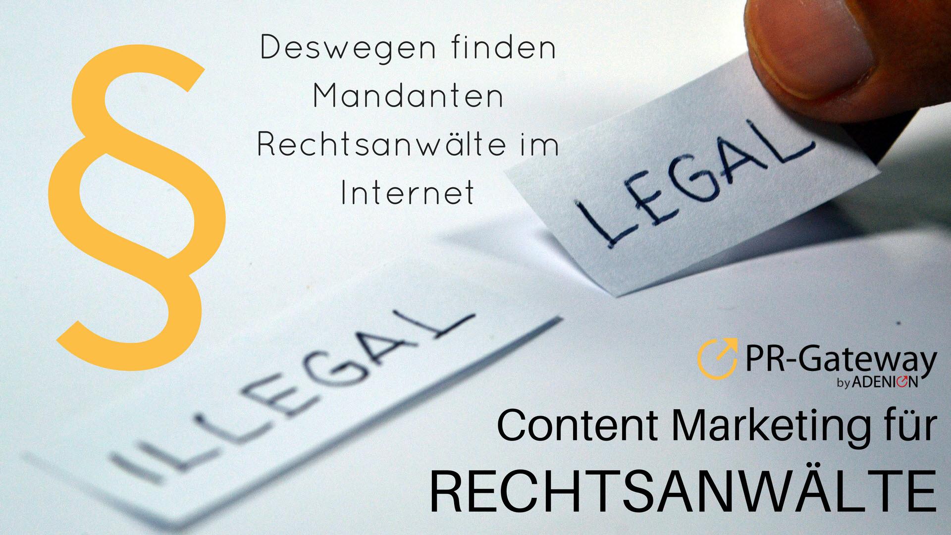 Cover zu Deswegen finden Mandanten Rechtsanwälte im Internet